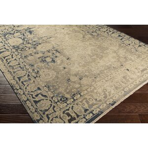 Adrien Hand-Knotted Beige Area Rug