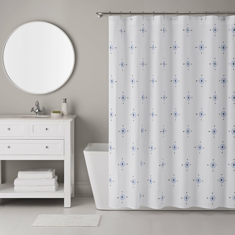 IZOD 13 Piece Compass Shower Curtain Set