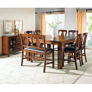 Burgess 8 Piece Dining Set by Loon Peak