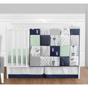 Woodsy 4 Piece Crib Bedding Set