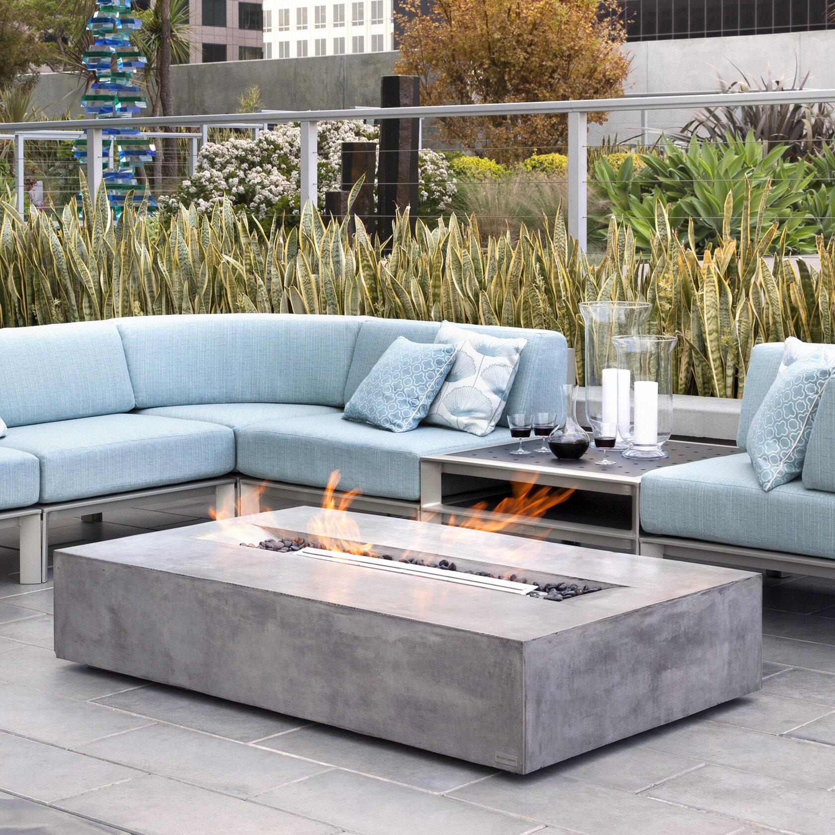 BJFS Flo Concrete Gas Fire Pit Table | Wayfair
