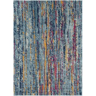 Andover Blue/Orange Area Rug