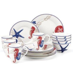 Oceanside 16 Piece Dinnerware Set Service for 4  sc 1 st  Wayfair & Lenox Dinnerware | Wayfair
