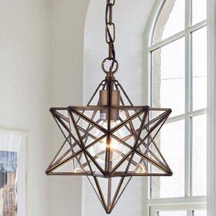 Star pendant light wayfair shuler star 1 light geometric pendant aloadofball Images