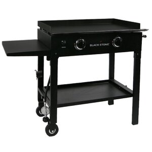 2-Burner Propane Gas Grill with Side Shelves