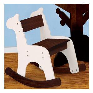 Cafe Con Leche Zebra Kids Rocking Chair by P'kolino