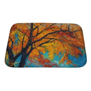 Nature Beautiful Autumn Tree Bath Rug
