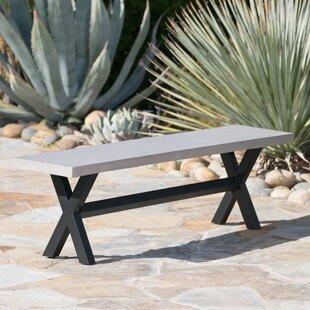 Warlick Outdoor Concrete Picnic Bench