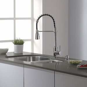 Single Handle Pull Down Kitchen Faucet With 3 Function Sprayer