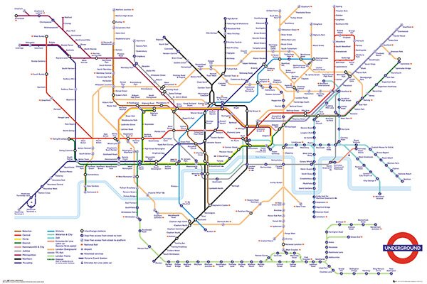 Transport For London Map.Transport For London Underground Map Framed Memorabilia