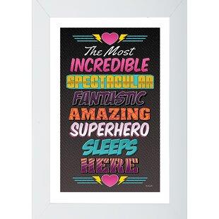 Charmant Superhero 1 Framed Wall Art