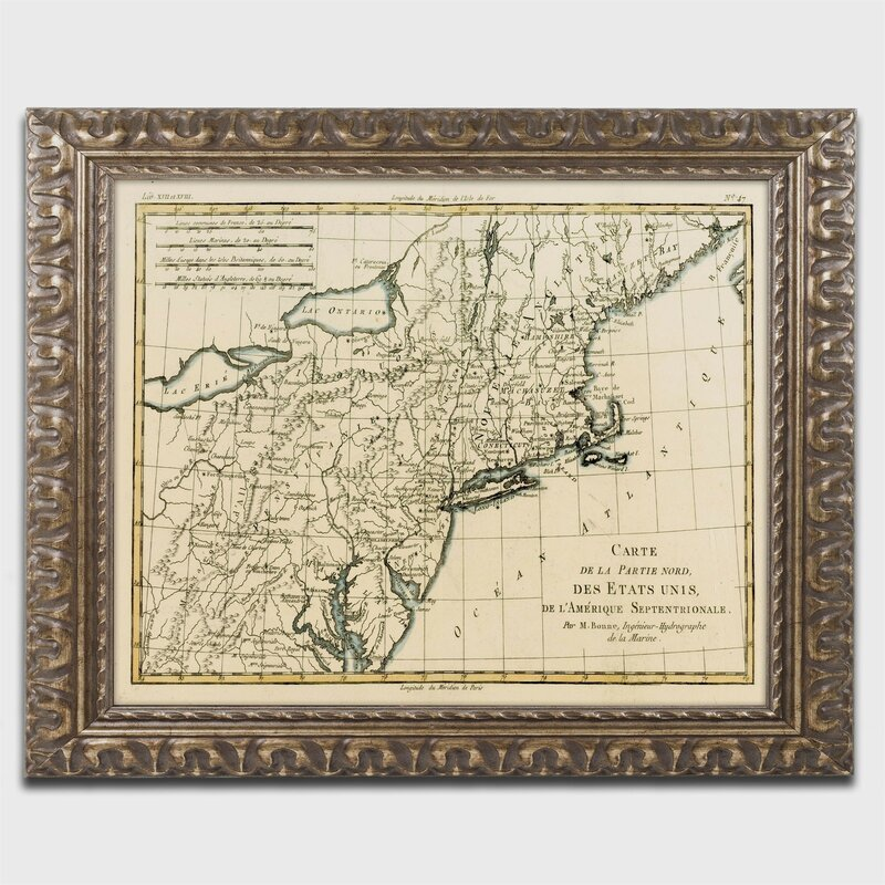 Trademark art northeast coast of america 1780 by charles bonne northeast coast of america 1780 by charles bonne framed graphic art gumiabroncs Images