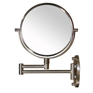 extendable round x magnify mirror