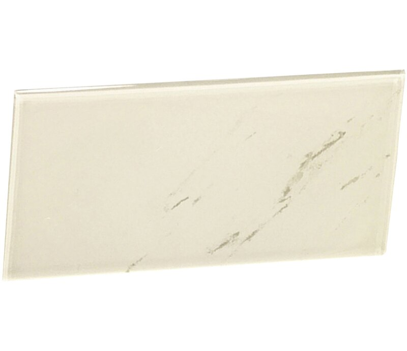 Instant Mosaic 3 X 6 Glass Peel Stick Subway Tile In Off White