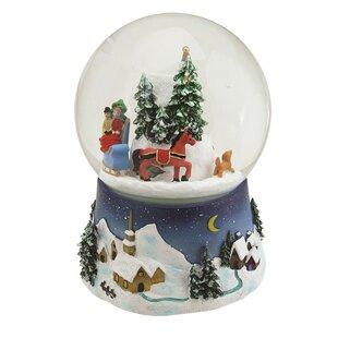 Musical And Animated Christmas Villiage Winter Scene Rotating Snowglobe