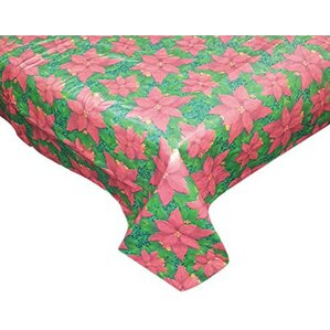 Floral Cheer Round Vinyl Tablecloth With Polyester Flannel Backing