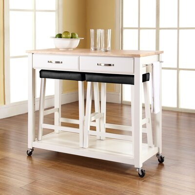 Fifth Furniture Greenwich Kitchen Island With Butcher Block Top : Stainless Steel Prep Stations & Tables You'll Love Wayfair
