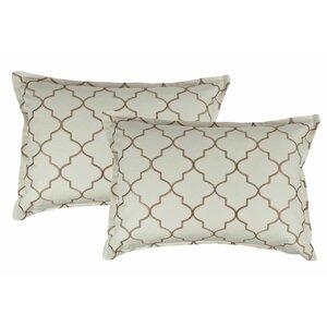 Reversible Boudoir Decorative Cotton Lumbar Pillow (Set of 2)