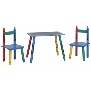 Graciela Rectangular Table and Chair Set by Zoomie Kids