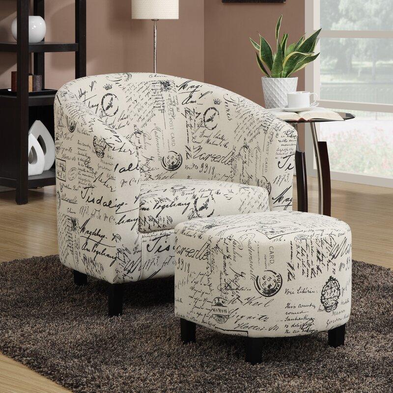 Emory Barrel Chair And Ottoman Amp Reviews Birch Lane