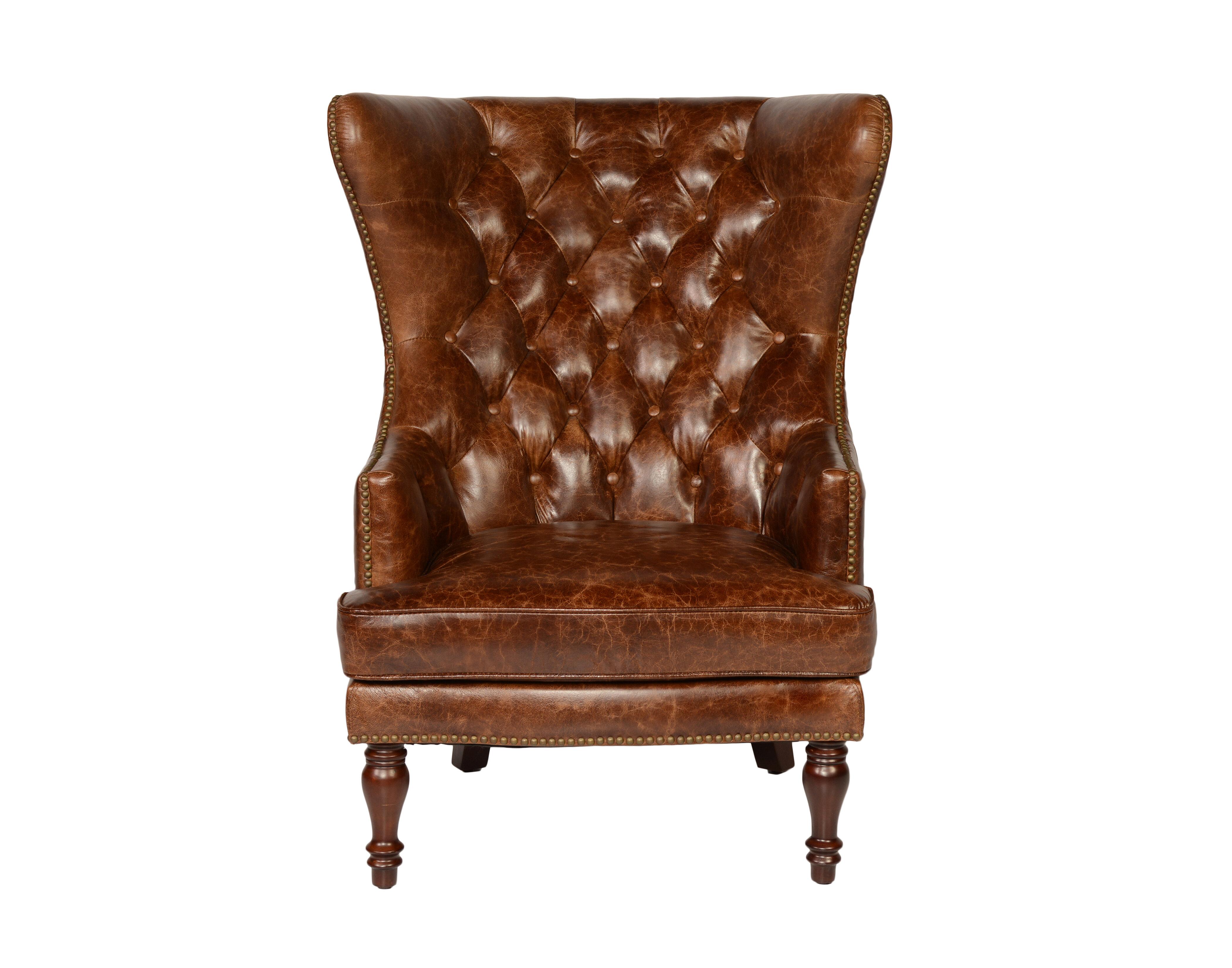 Lazzaro Leather Sedgefield Wingback Chair U0026 Reviews | Wayfair