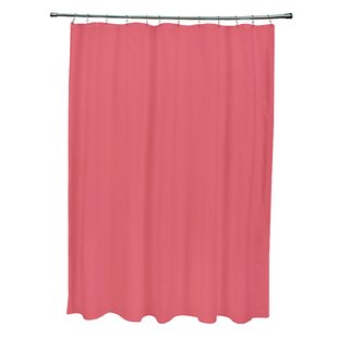 Navy And Pink Shower Curtain