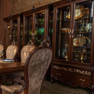 Platine De Royale Lighted Curio Cabinet