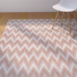 Conesus Modern Blue Indoor/Outdoor Area Rug