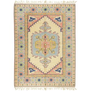 Yoruk Hand-Knotted Blue Area Rug