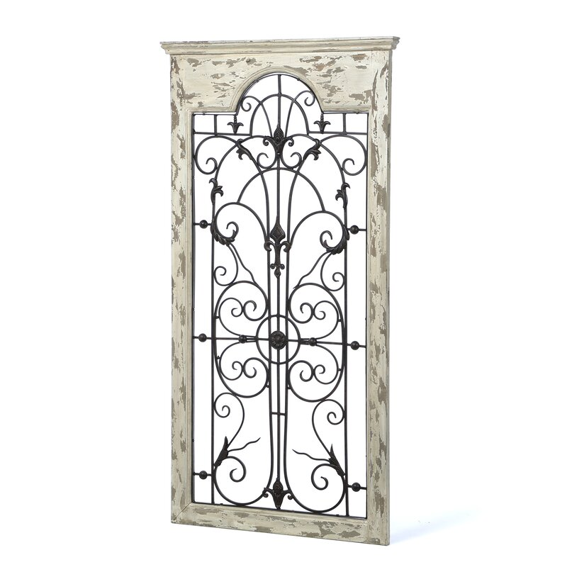 Gate White Wood And Metal Wall D 233 Cor Amp Reviews Birch Lane