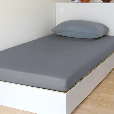 "Breathable And Waterproof Select Fitted Sheet And Protector Bsensible Size: 75"" H X 54"" W X 12"" D, Color: Grey"