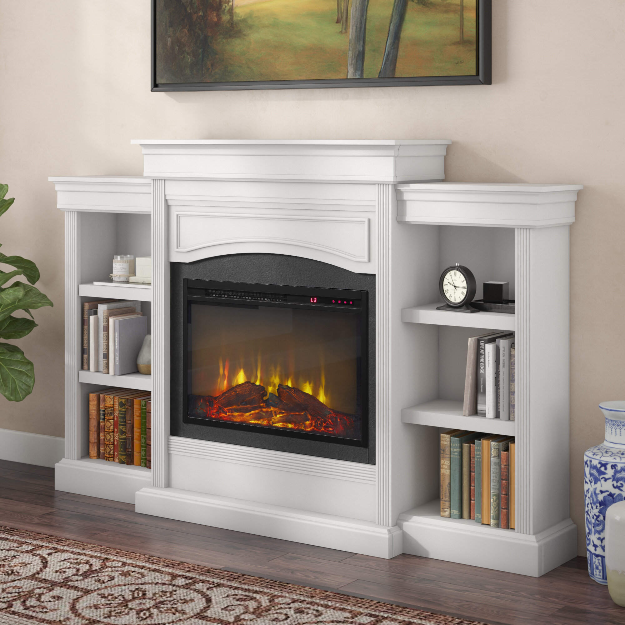 Fantastic Fake Fireplace Wayfair Interior Design Ideas Tzicisoteloinfo