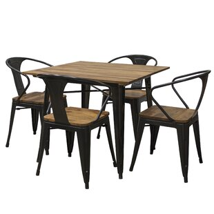Rodriguez 5 Piece Dining Table Set