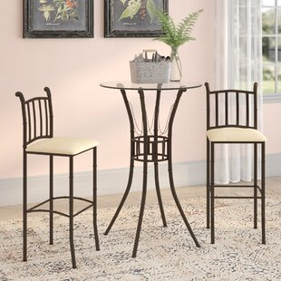 Jeffrey 3 Piece Pub Table Set