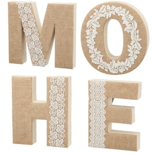4 Piece Home Lettering Wall Décor Set Of