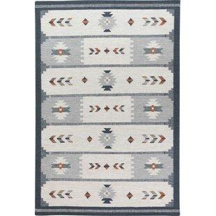 Okelley Handmade Kilim Wool Grey Rug by Charlton Home