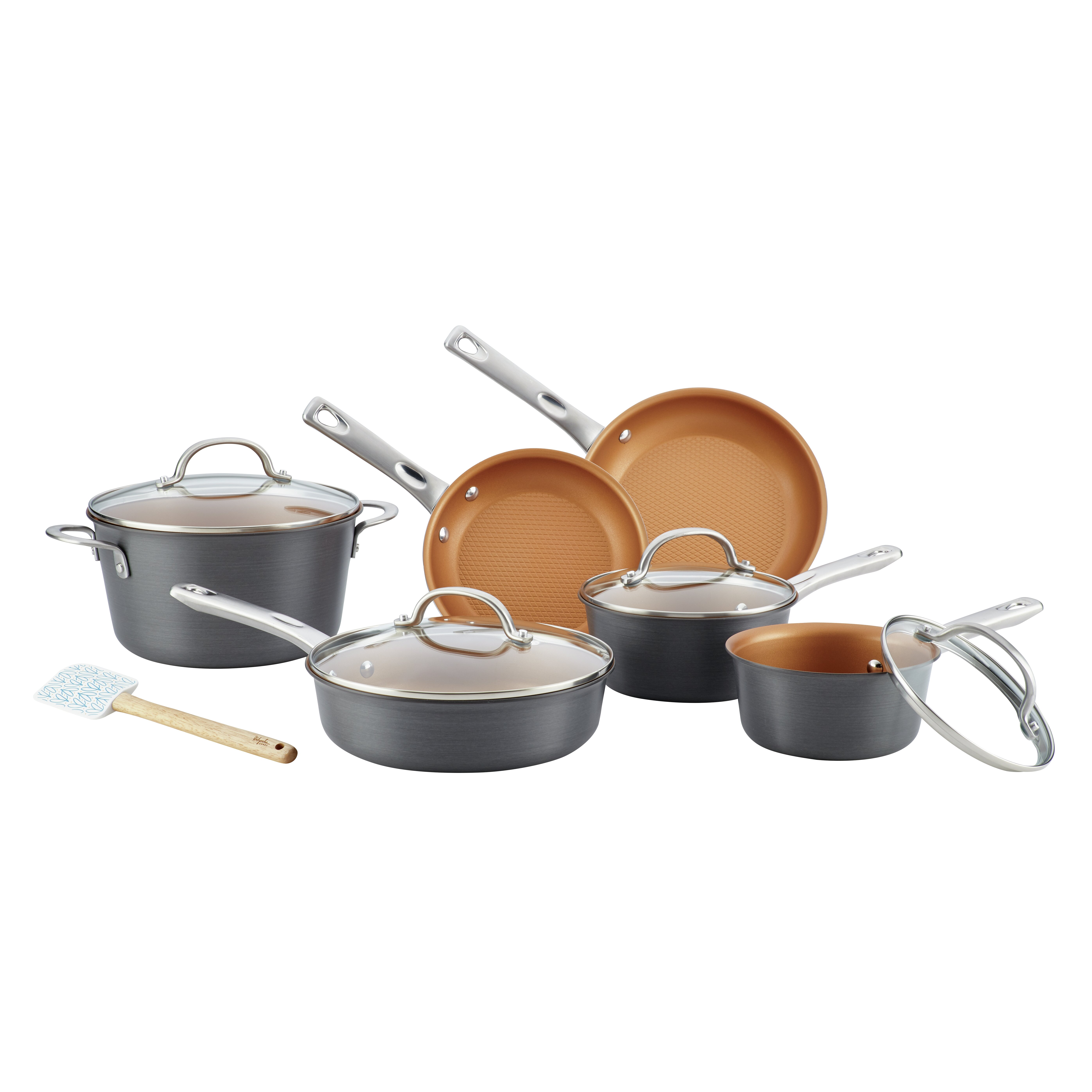 Ayesha Curry Home Collection Porcelain Enamel Nonstick Skillet 10-Inch Brown Sugar