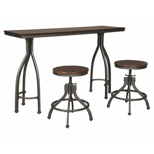 Yvette 3 Piece Adjustable Pub Table Set