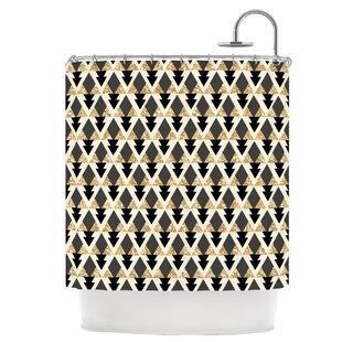 Glitter Triangles Single Shower Curtain