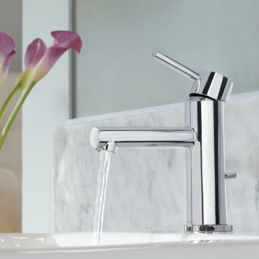 Bathroom Faucets Single Lever moen align single handle single hole bathroom faucet with drain