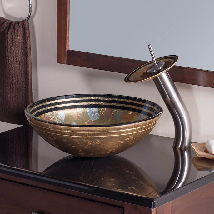 High Quality Celebrazione Glass Circular Vessel Bathroom Sink