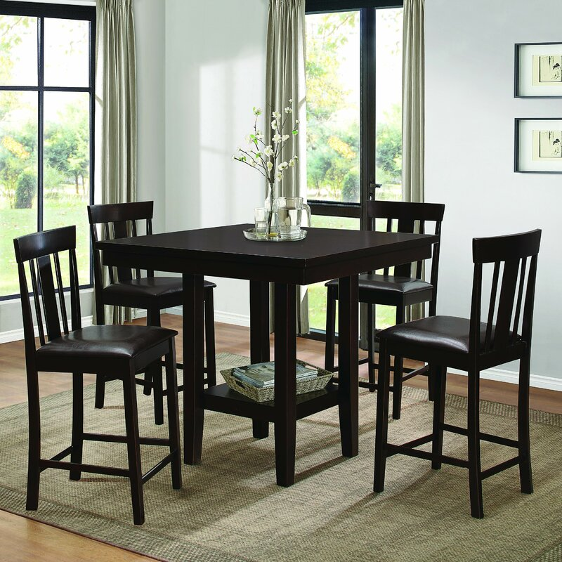Homelegance Diego Counter Height Dining Table Reviews Wayfair