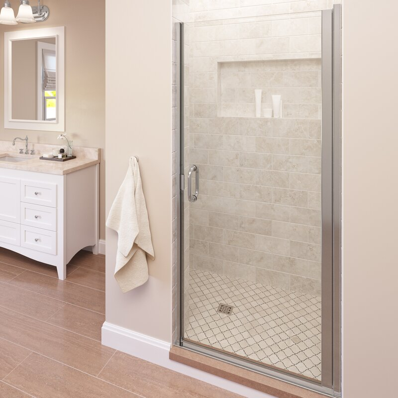 enclosures cdii semi reflections in frame california clear frameless door panel shower less satin
