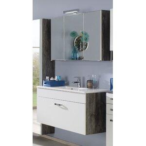 Held Möbel 80 cm Wandmontierter Waschtisch Capri mit Spiegel