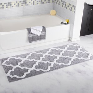Bath Rugs Bath Mats Youll Love Wayfair - Black and white bath mat uk for bathroom decorating ideas
