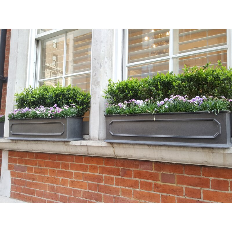 Berenice Fiberglass Window Box Planter