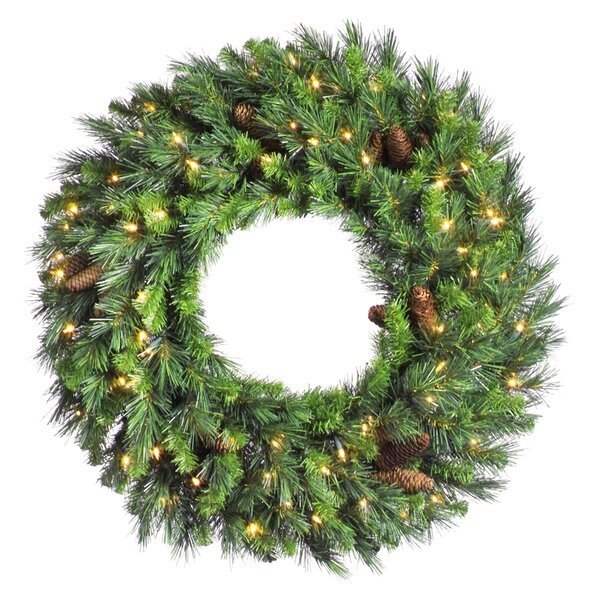 christmas wreaths youll love wayfair - Solar Powered Christmas Wreath