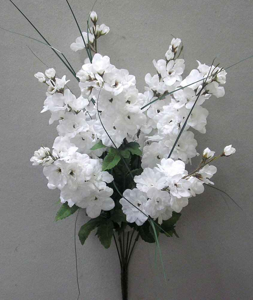 Admiredbynature 7 Stems Artificial Full Blooming Delphinium Flowers