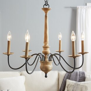 Candle chandeliers youll love wayfair edson 6 light candle style chandelier aloadofball Gallery