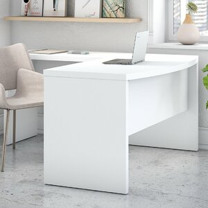 Echo Bow Front L-Shaped Computer Desk